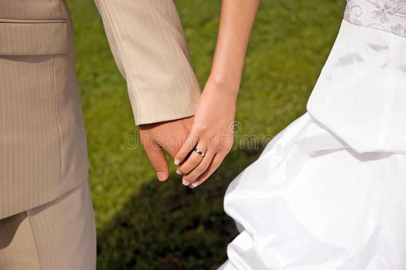 Bride groom hands royalty free stock photo