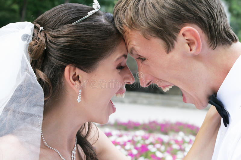 Download Bride and groom have fun stock image. Image of husband - 16154933