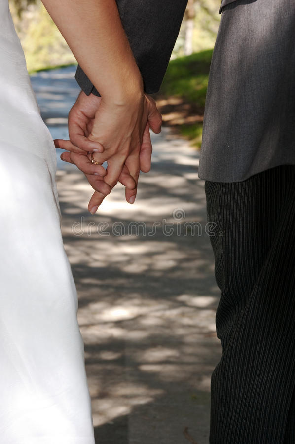 Download Bride And Groom Holding Hands Stock Image - Image: 12992191