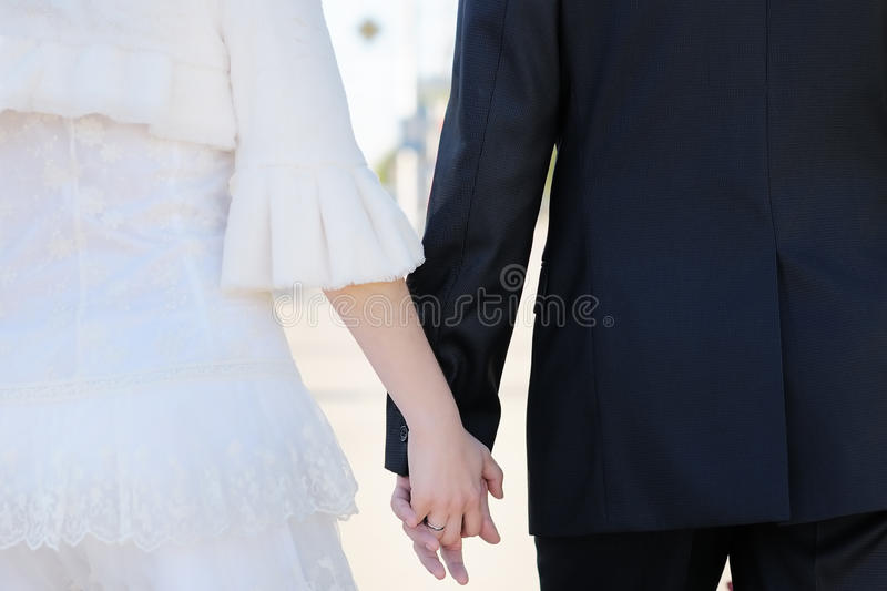 Download Bride And Groom Holding Hands Stock Photos - Image: 27707083