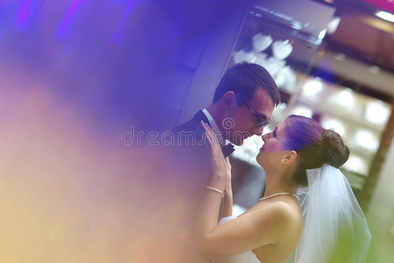 Download Bride And Groom Hugging In The City Stock Photo - Image: 41119254