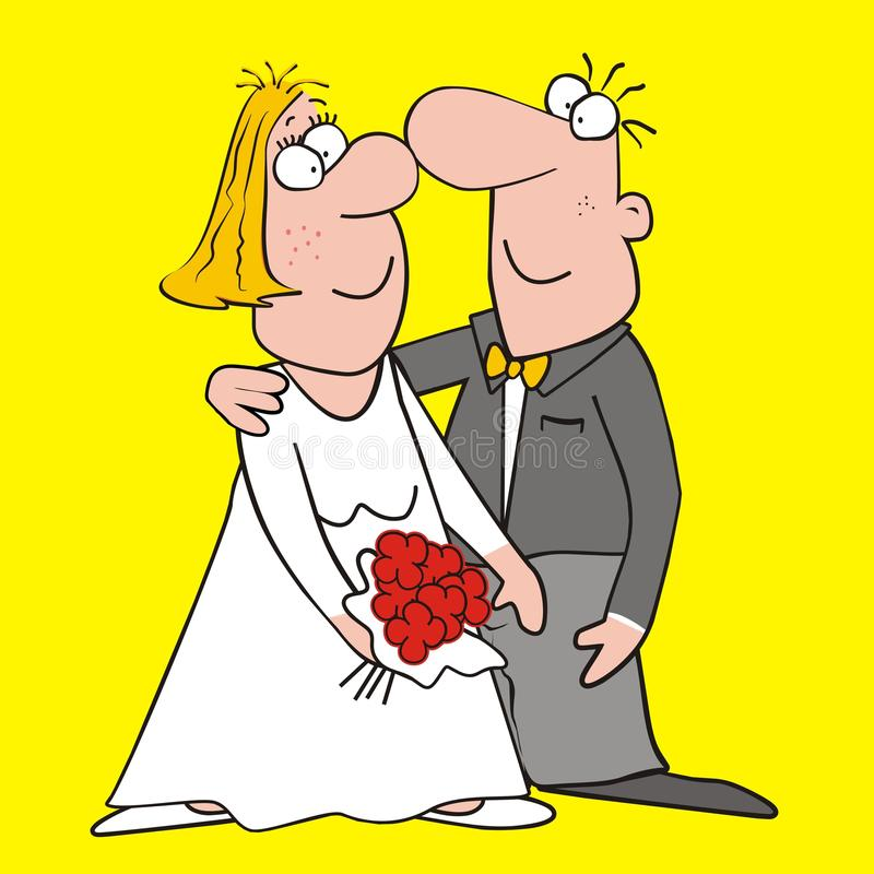Download Bride and groom stock vector. Image of funny, glory, lovely - 32897398