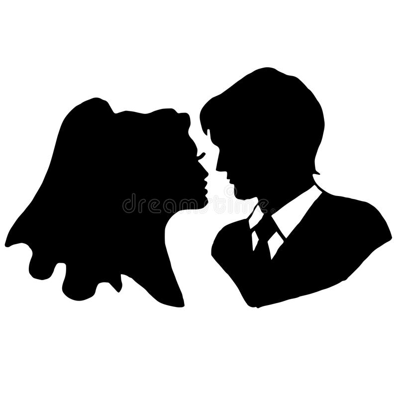 The bride and groom vector illustration