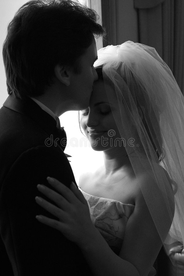 Download Bride and groom in love stock photo. Image of passion - 4372454