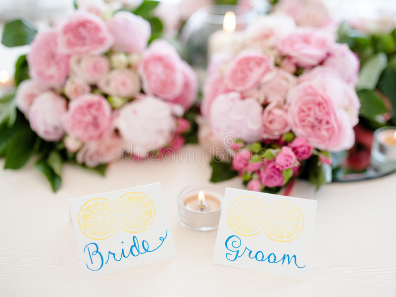 Attractive Download Bride And Groom Table Setting Stock Photo   Image Of Celebration,  Nuptial: 91263170