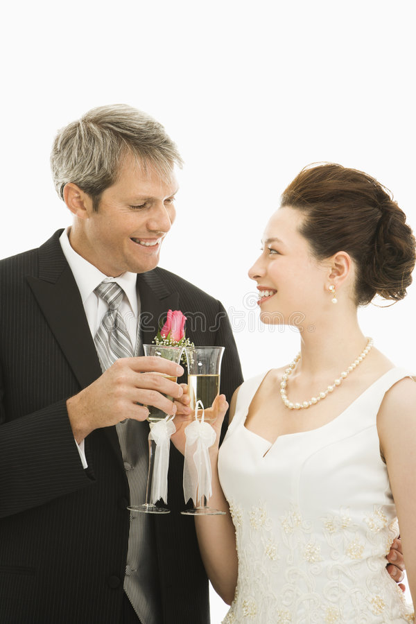 Download Bride and groom toasting. stock photo. Image of toast - 2678722