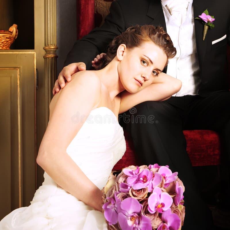 Download Bride And Groom In Vintage Interior Stock Photo - Image: 12927816