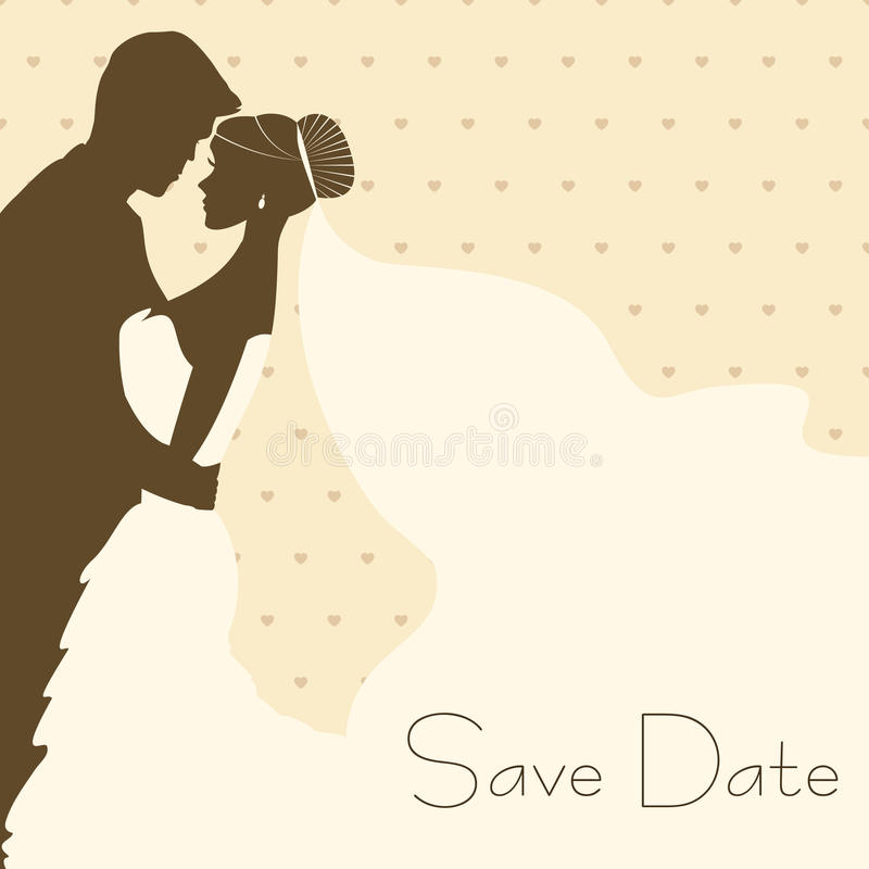 Download Bride And Groom In Vintage Style Stock Vector