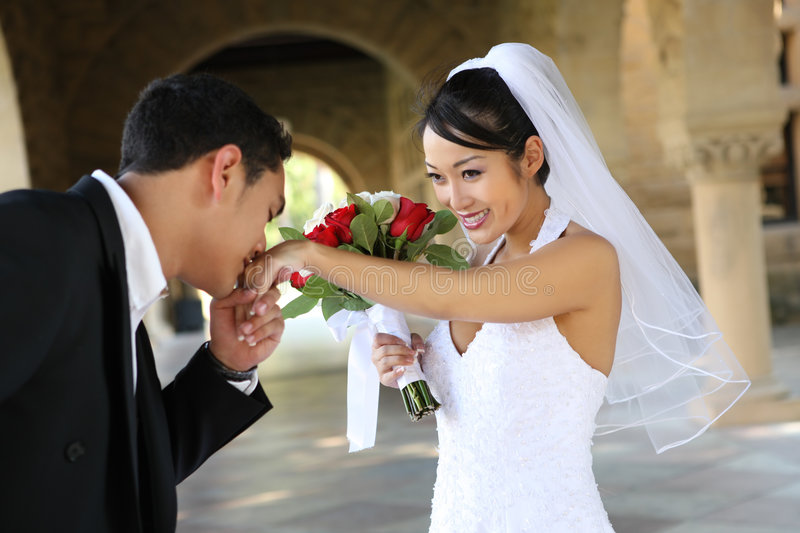 Download Bride and Groom at Wedding stock photo. Image of asian - 5809614