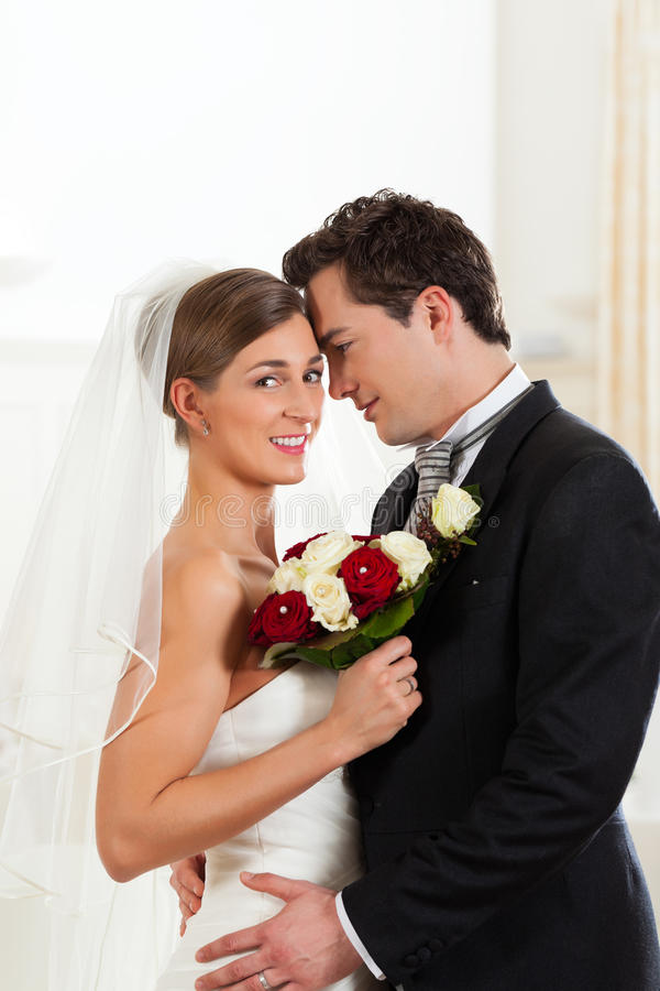 Bride And Groom At Wedding Day Stock Image