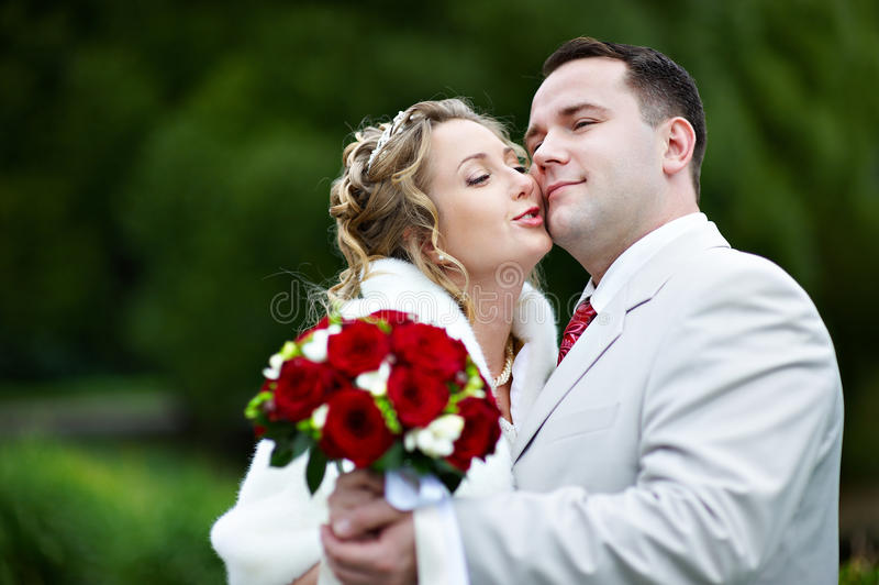 Download Bride And Groom At Wedding Walk Stock Photo - Image: 13415190