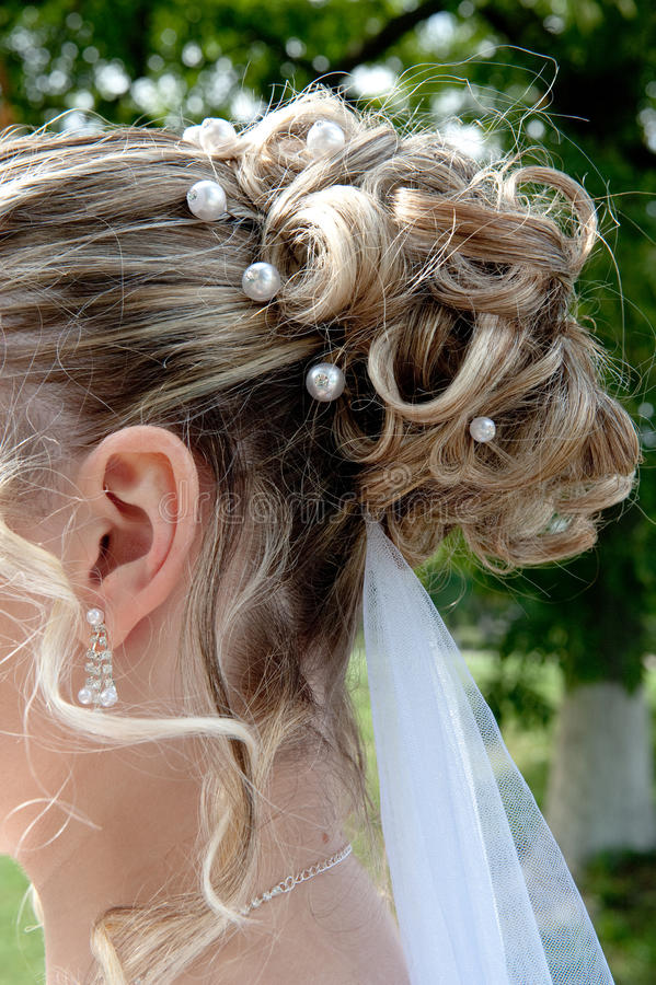 Bride hairdo stock image