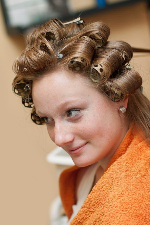 Download Bride at the hairdresser stock image. Image of bridal - 27188741