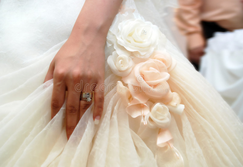 Download Bride Hand With Wedding Ring Stock Image - Image: 7733761