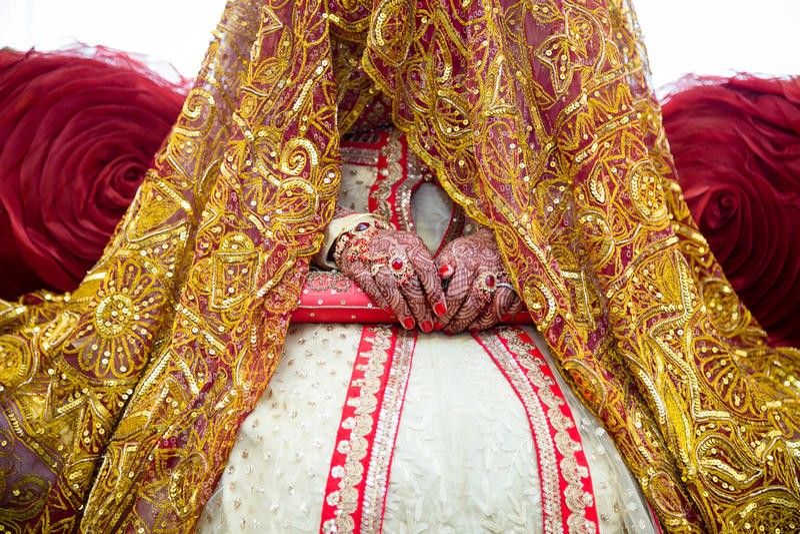 Bride hands henna royalty free stock photo