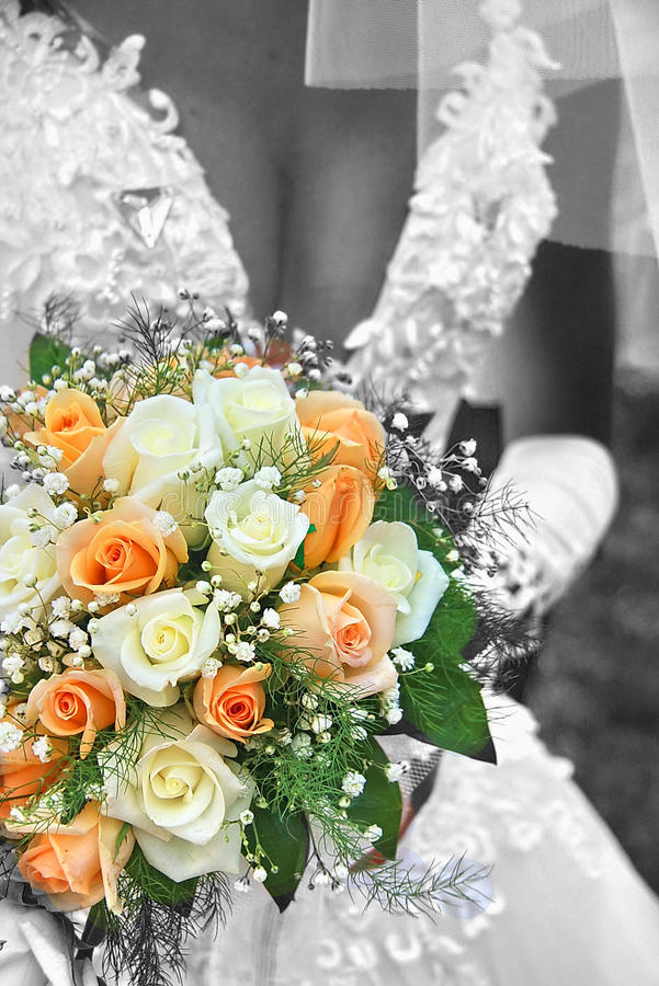 Bride With Her Bouquet Royalty Free Stock Photos