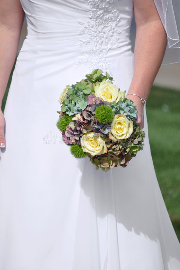 Download Bride and her bouquet stock image. Image of matrimony - 12737625