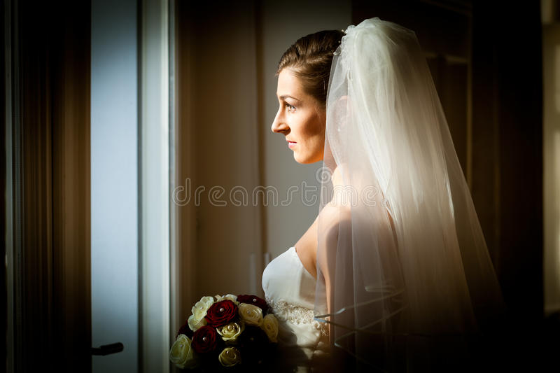 Bride At Her Wedding Day Royalty Free Stock Images
