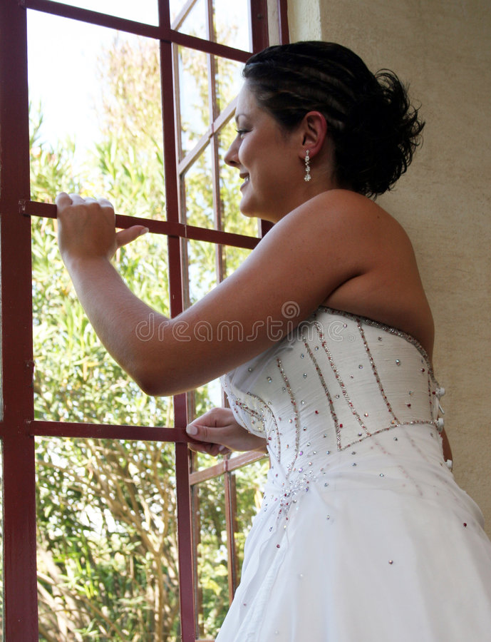 Download Bride on her wedding day stock image. Image of female, smile - 199325