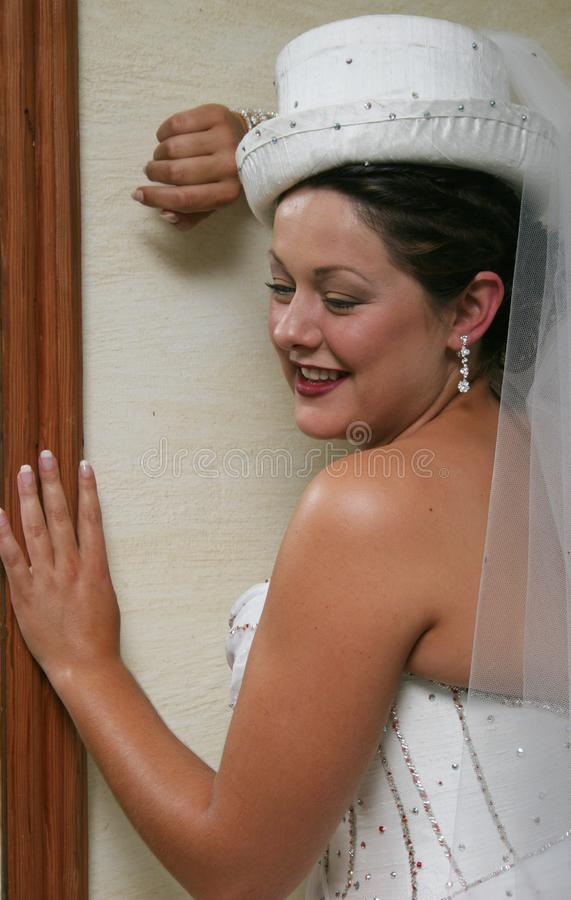 Bride On Her Wedding Day Free Stock Photography