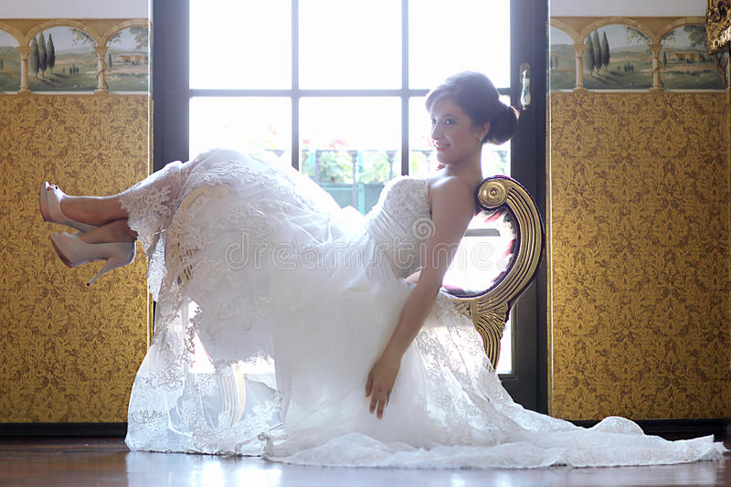 Download Bride In Her Wedding Day Feeling Great Stock Photo - Image: 41117814