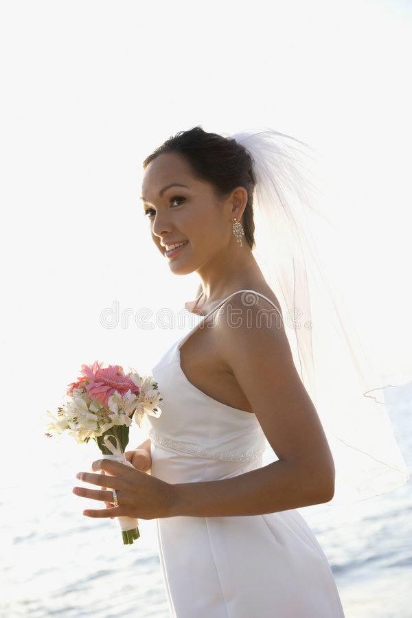 Download Bride holding bouquet stock image. Image of outdoors, bouquet - 2045879
