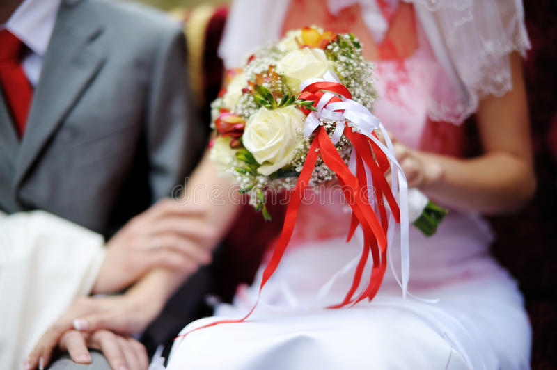 Download Bride Holding Wedding Flowers Bouquet Stock Photo - Image of holding, fresh: 22268496