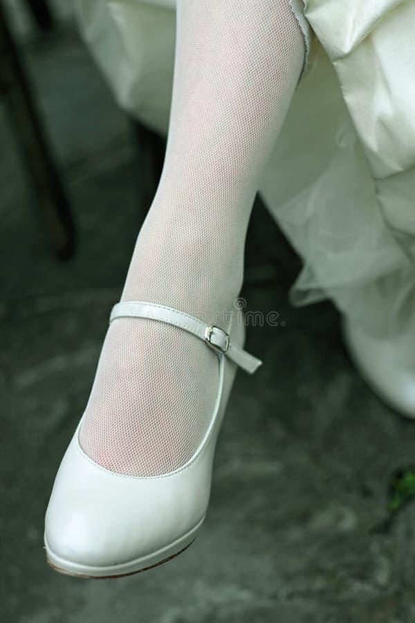 Bride leg stock images