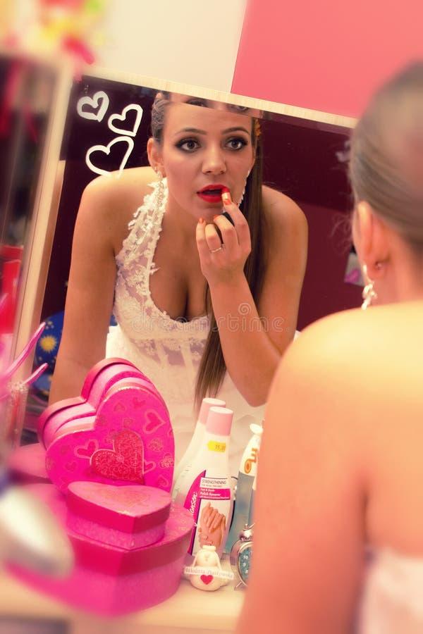 Bride make up royalty free stock image