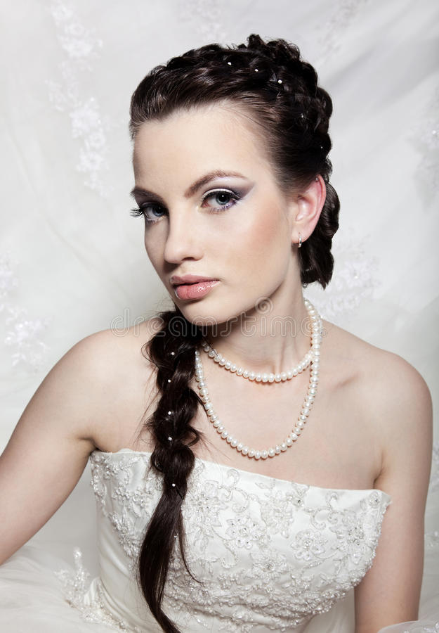 Bride Makeup Royalty Free Stock Photography
