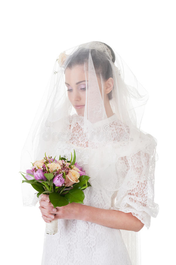 Hard decision to make. Bride is about making a hard decision stock images