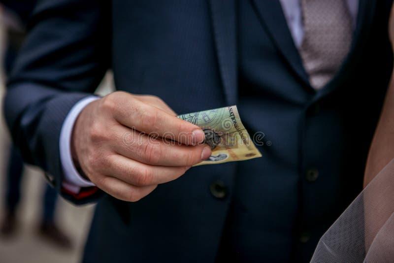 Bride money stock image