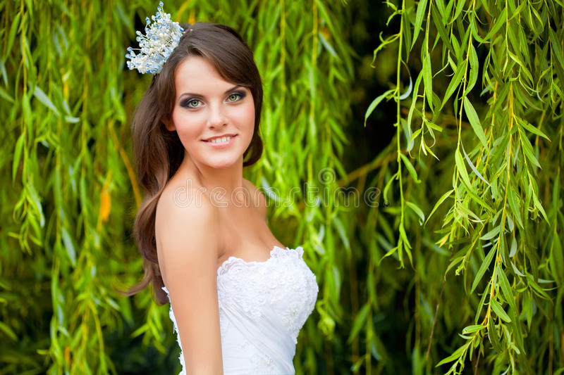 Download A bride on the nature stock photo. Image of urban, outdoors - 25723746