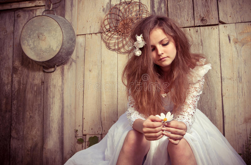 Download Bride At One With Their Life Problems Stock Photo - Image: 24015836