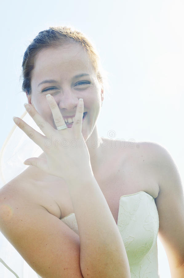 Download Bride outdoor stock photo. Image of fashion, face, happy - 10285794