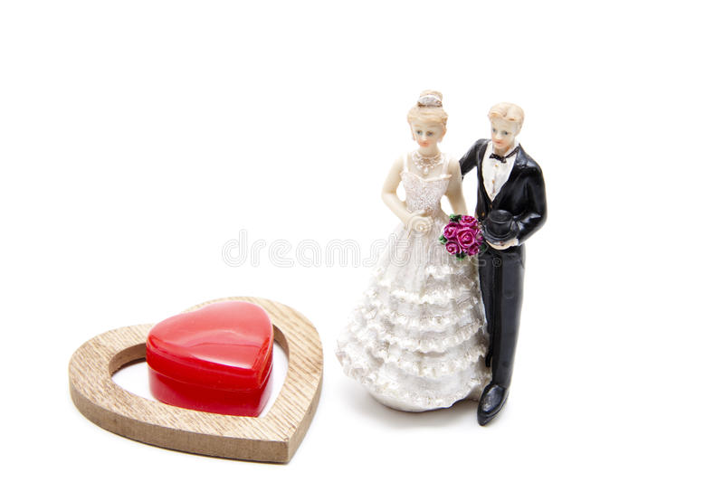 Download Bride pair with dear heart stock image. Image of bridegroom - 27957183