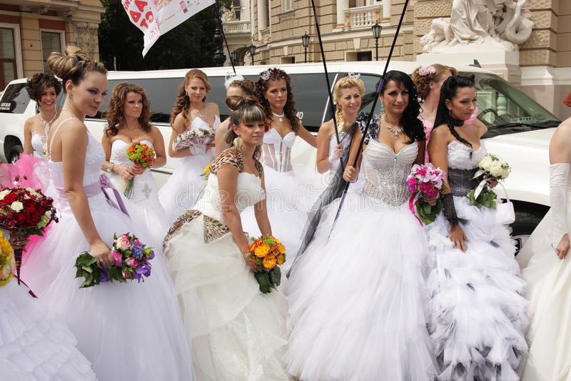Download Bride parade editorial photography. Image of elegance - 25015477