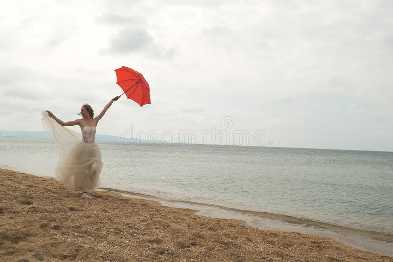 Download The bride with a parasol stock photo. Image of people - 9491998