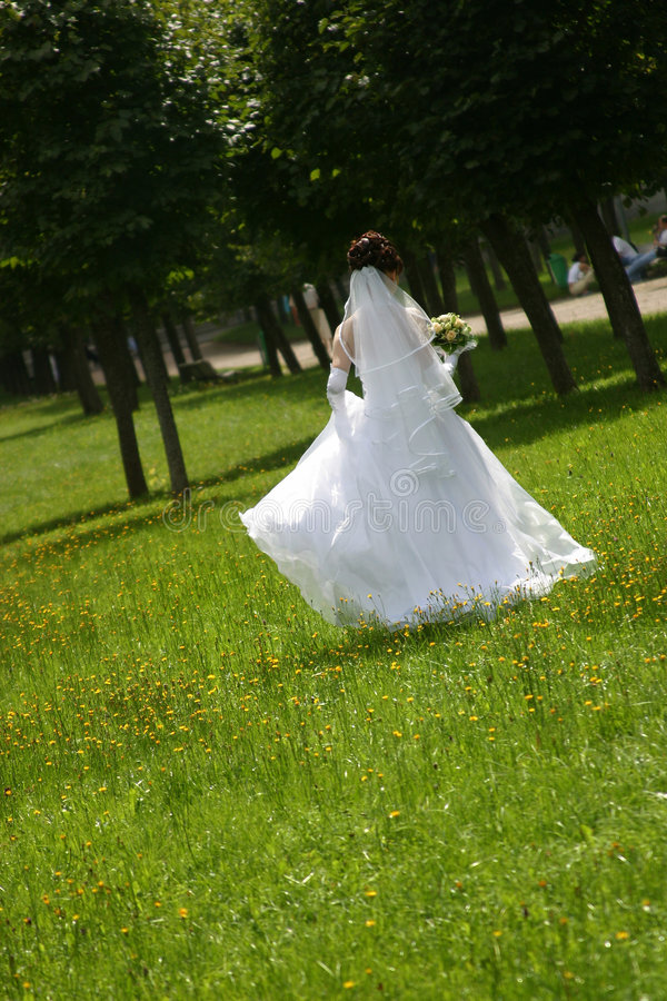 The bride in park royalty free stock photos