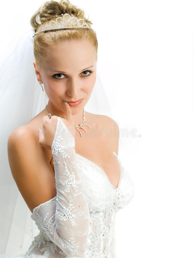 Download Bride portrait stock photo. Image of dress, white, backgrounds - 11377288