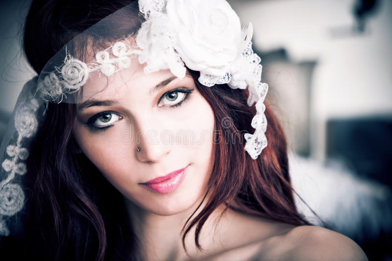 Download Bride portrait stock image. Image of beautiful, selective - 19150973