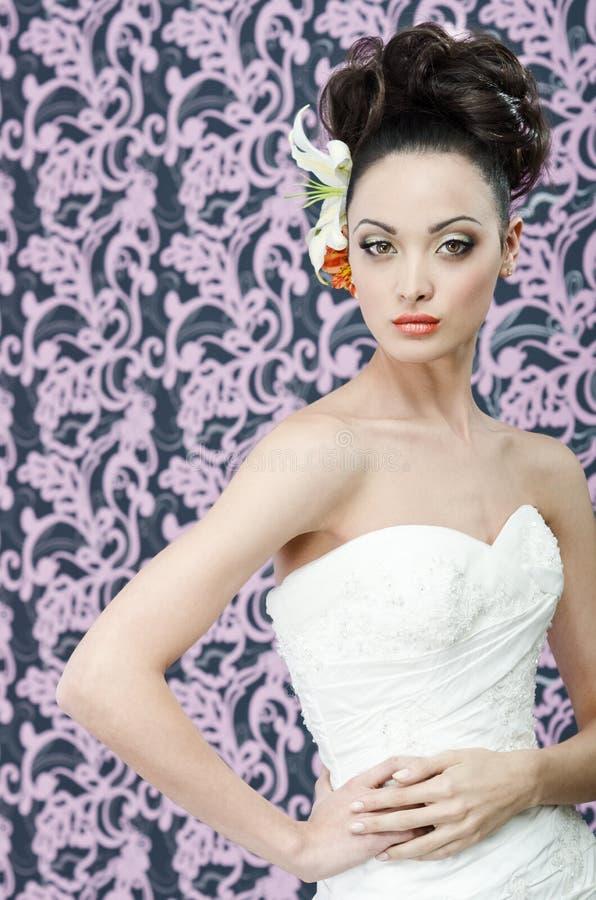 Download Bride portrait stock image. Image of attractive, brunette - 23871459