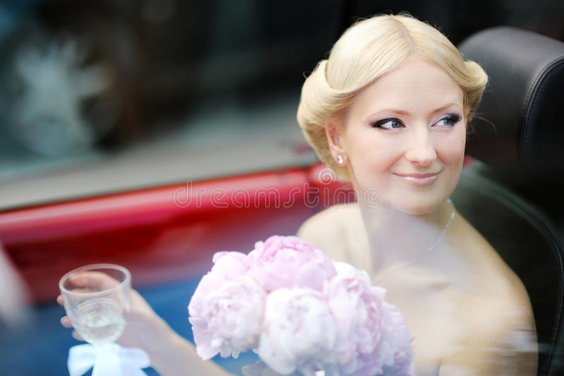 Download Bride portrait in a car stock image. Image of blond, beauty - 22248227