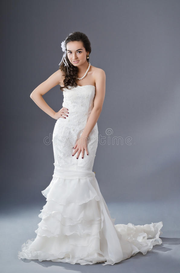 Download Bride posing in studio stock image. Image of face, dress - 24347361