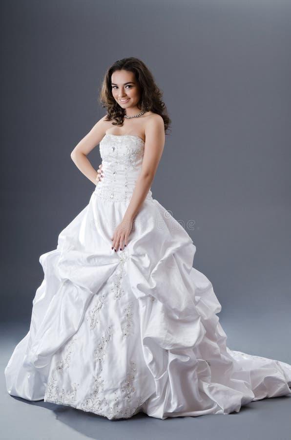Download Bride posing in studio stock photo. Image of dress, face - 24348022