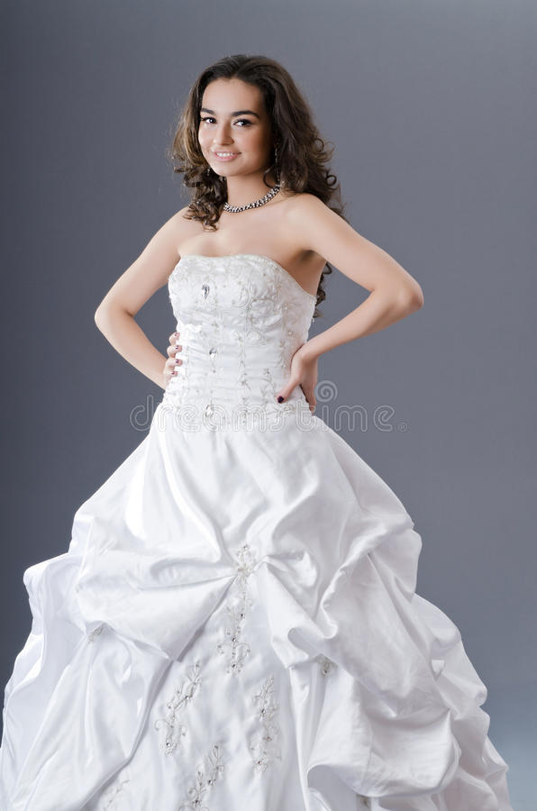 Bride Posing In Studio Stock Images