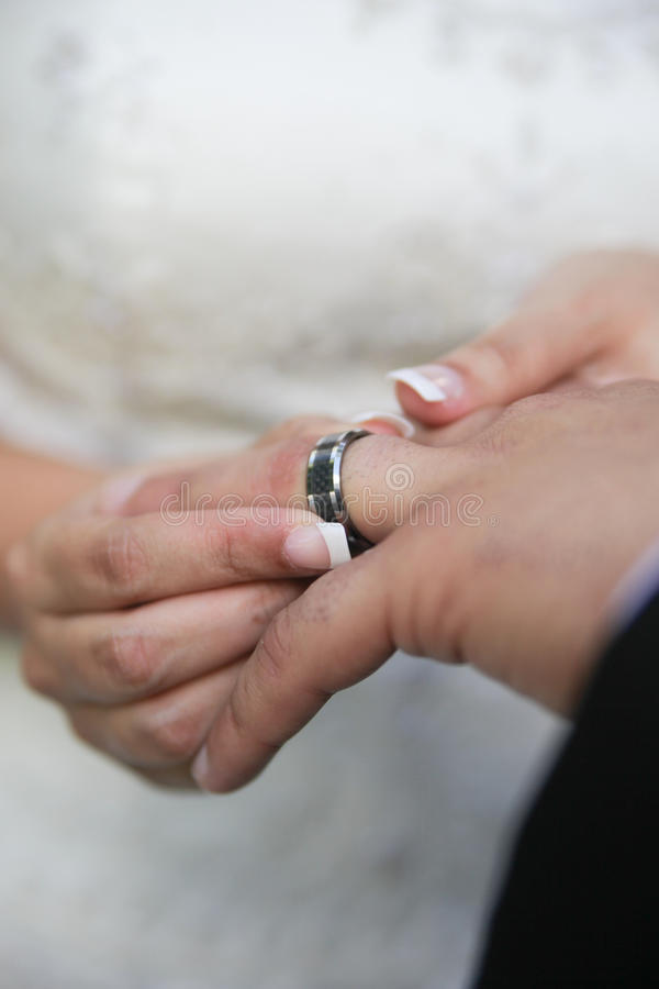 Download Bride Putting On Wedding Ring Stock Photo - Image of love, ceremony: 27901648