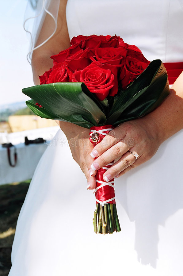 Download Bride's bouquet stock image. Image of devoted, emotions - 2082683