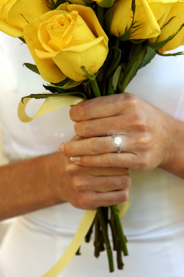 Download Bride's bouquet stock image. Image of woman, holding, white - 38555