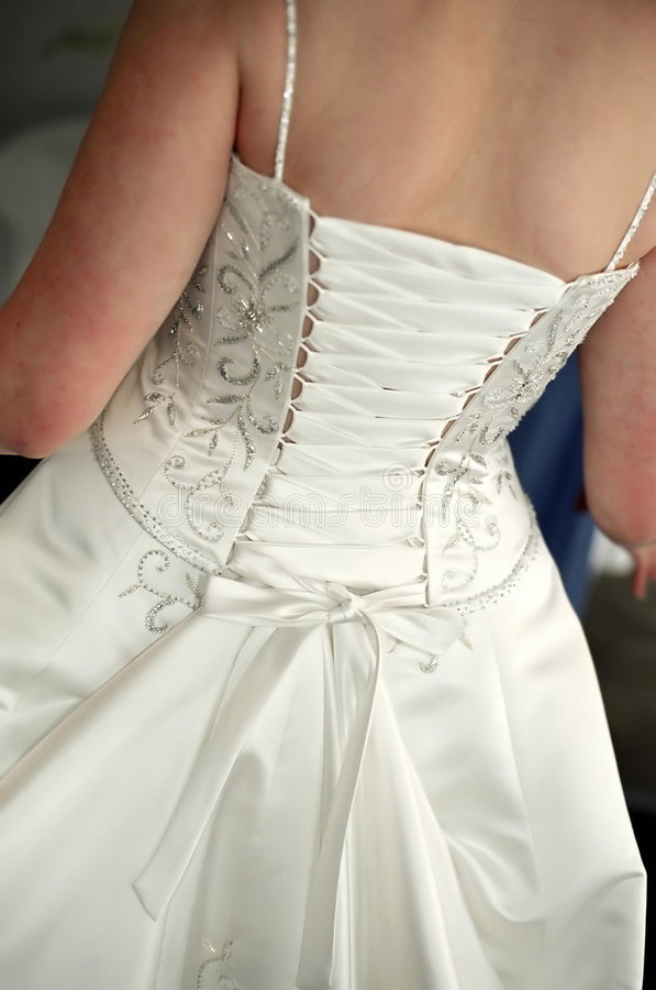 Bride's dress stock image